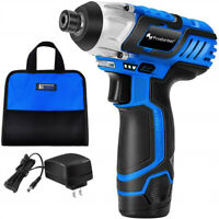 1/4 head size, 12V 2000mAh Lithium Cordless Drill Screwdriver with Tool Bag
