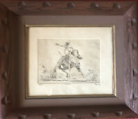 """Fred Fellows An Unbelievable Cowboy Artist.Etching""""Spooked""""is A Great Orig Print"""