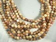 "Peruvian Pink Opal Beads 6MM Round Natural Varied shades of pinlk 16"" strand"