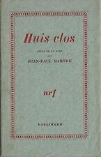 RARE EO N° SUR CHÂTAIGNIER + JEAN-PAUL SARTRE : HUIS CLOS ( THÉÂTRE )