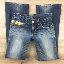 Edwin Blue Trip 503 Boot Cut Size 28 Women's Jeans L30.5 (BT13)