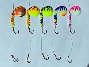 SUZIES SPINNERS 5 Walleye Spinner Rigs Size 5 Colorado Blades