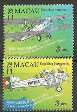 Macau - 75 Jahre Flug Portugal-Macau Satz postfrisch 1999 Mi. 1014-1015