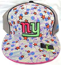 NEW! NFL New York Giants Embroidered Multi Color Fitted Cap Size 8