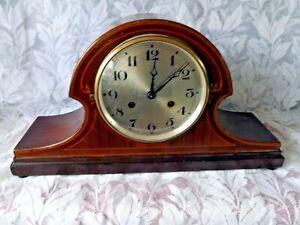 ANTIQUE  EDWARDIAN STYLE 8 DAY TIME & STRIKE MANTLE CLOCK. Circa 1920's.