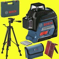 BOSCH Linienlaser GLL 3-80 mit Laserzieltafel + Tasche + Koffer  + Stativ BT 150
