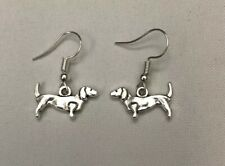 Tibetan Silver Dachshund Earring    104