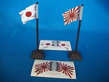 WWII JAPANESE Flags w/ stands 54mm Toy Soldiers - RISING SUN