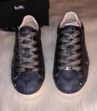 Coach C126 Denim Signature Canvas Prairie Souvenirs Sneakers Fg2120 Size 7