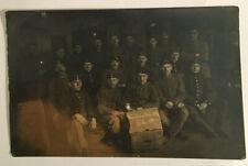 VINTAGE 1917 B&W RPPC PHOTO of WW Soldiers / Military Unit Portrait #3461