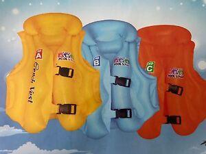 Inflatable Swim,Vest Children Kids Float Aid Jacket Baby Training Beach-