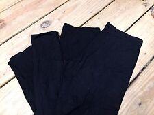 NEW Felina Women's Black Leggings-Versatile-Solid Black-3pk!