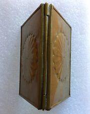 miroir portable ancien rare vintage fabrication artisanale monté dans cuivre .D8