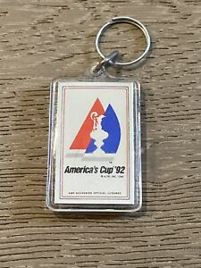 America's Cup 1992 Vintage Plastic Key Chain Sailing Yachts Racing