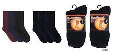 Ladies Heatguard Thermal Socks With Wool Label Sk262 Black/navy/red 4-7 UK Standard