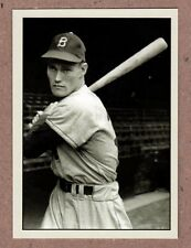 Chuck Connors '49 Brooklyn Dodgers signature photo card Plutograph serial #/200