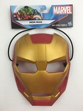 Marvel Iron Man Mask Durable Thick Plastic w/Extra Thick Head Strap Age 5+ New