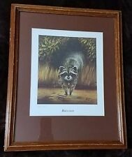 Vintage Art Print - Raccoon by Ray Sexton Signed & Numbered A/P 7 of 25