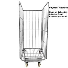 More details for roll cage warehouse trolley 3 sided heavy duty large storage with wheels
