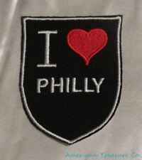 Embroidered Retro Vintge Style I Love Philly Philadelphia PA State Patch Iron On