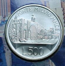 1991  Repubblica Italiana 500 lire Ponte Milvio  Roma