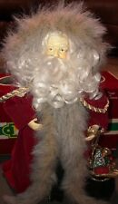 14� Santa Clause Tree Topper Centerpiece Mantel Display Red Detailed Nice