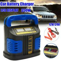 Smart 400W 12/24V LCD Pules Repair Charger Auto Car Motorcycle Battery Kit AU