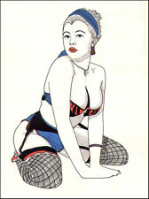 American AMATEUR DRAWINGS TRACINGS Busty Babes In LINGERIE 1980s ~ SALE!