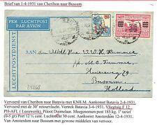 NED INDIE 1931-4-1   FLIGHT COVER = CHERIBON-BUSSUM  =   F/VF