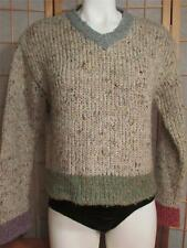 Womens Vintage Cropped TWIGGY Sweater Sweaters Multi Colored Cuffs Waist M