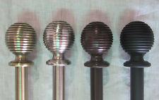 "Urbanest Zinc Cast Ripple Ball Drapery Curtain Rod Set 3/4"""