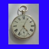 Stunning Silver Alan Wells of Cardigan Welsh Fusee Pocket Watch 1872