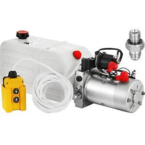 12 Volts 12V 7L Pompe Hydraulique Groupe Électrique Benne Kit Levage