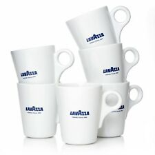 Lavazza Mugs Kaffeebecher weiß Porzellan 6 Mug Becher 320 ml  BLU Collection