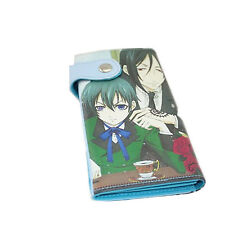 Black Butler -- Sebastian and Ciel Anime Money Long Purse Wallet Card Hand Bag