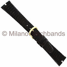 19mm Hadley-Roma Java Lizard Gucci Cut Brown Unstitched Watch Band MS 972