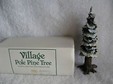 "DEPT 56 - VILLAGE - POLE PINE TREE - NEW - #55280 - 8"" - Cold Cast Porcelain"