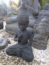 bouddha,assis statue en pierre patinée, nouveau ,bouddha tête en pointe ...