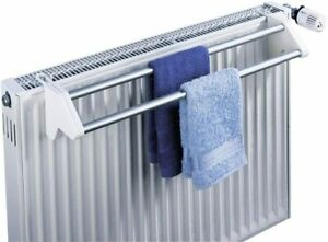 Wenko Twin Radiator Mounted Extendable Laundry Dryer Aluminium & White (2 rails)