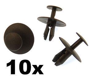 10x Peugeot Plastic Rivet Clips- Trim Clips Fasteners for Bonnet, Bumper Grille