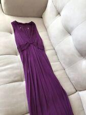Women's Halter Maxi Summer Dress Long Deep Purple Size Small S