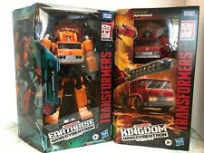 2 LOT Transformers War For Cybertron earthrise GRAPPLE Kingdom INFERNO Voyager