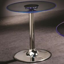 Coaster 701497 - LED Transitioning - End Table with Chrome Base