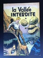 Album broché  La vallée Interdite L'épervier bleu Sirius EO 1954 TBE