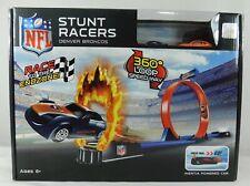 Denver Broncos NFL Stunt Racers Inertia Powered Cars & Track Set NIB