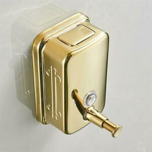 Golden Hand Liquid Soap Dispenser Pump Bottle Automatic Foaming Stainless Steel