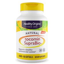 Healthy Origins Tocomin SupraBio Tocotrienols 60 Softgels Vitamin E Heart Health