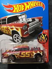 Hot Wheels 55 Chevy Bel Air  HW Flames  2017    momc   NEW