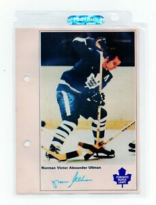 1971/72 NHL ACTION PLAYER NORMAN VICTOR  ULLMAN PICTURE W/ FACSIMILE AUTOGRAPH