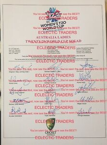 2020 T20 Women's Cricket World Cup SIGNED Australia Squad! Perry, Healy. PROOF
